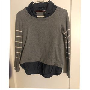 Tommy Hilfiger Faux Layered Collar Sweater XS